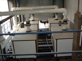 Central vacuum system for a refrigeration plant.