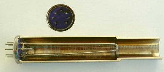 Opened Pirani probe