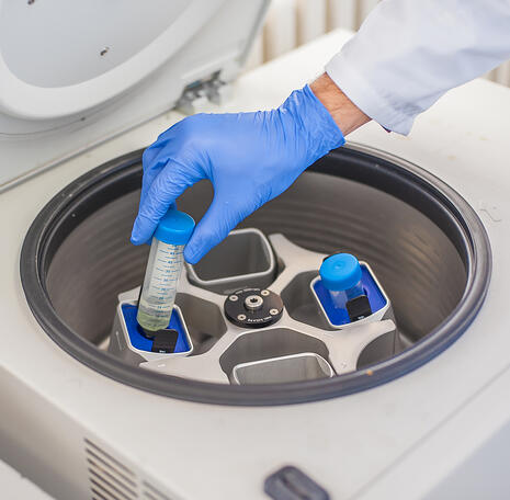 Place sample in centrifuge