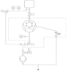 Typical vacuum system schematic using cryopumps